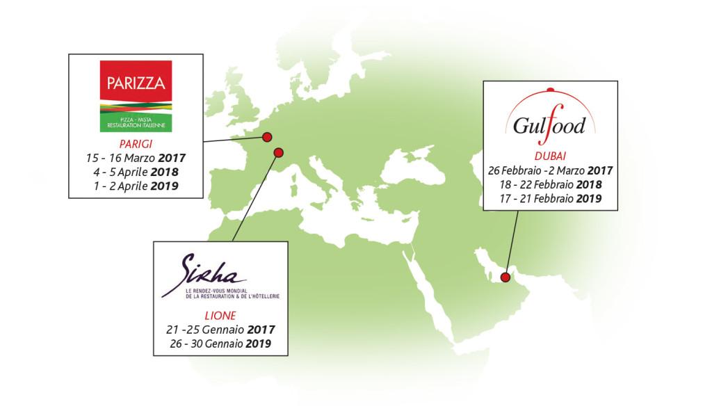 FOOD EXPERIENCE Mappa Eventi MONDO al GEN 2019