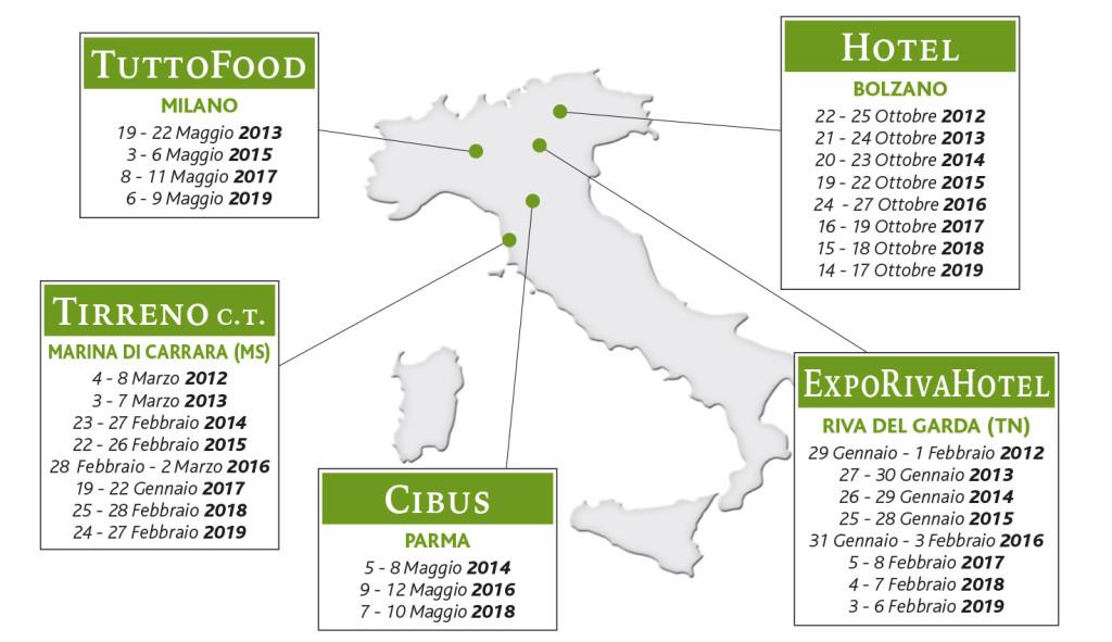 TFE Cartina ITALIA eventi al 2019